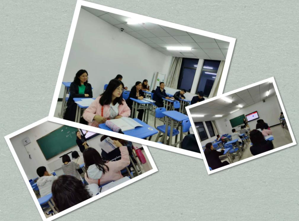校领导深入教学一线参与听课评课活动